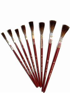 Andrew mack series 179l brown quill brush misterartcom for Sign lettering brushes