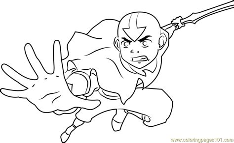 Avatar Kleurplaat by Avatar The Legend Of Aang Coloring Page Free Avatar The