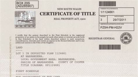 Example Of Certificate Of Title