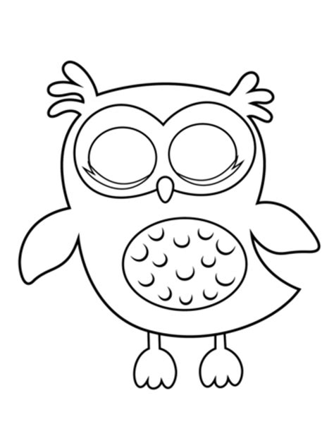 sleepy owl coloring page  printable coloring pages