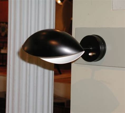 wall light œil black l20cm serge mouille nedgis
