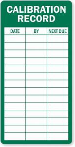 calibration record inspection label huge customer base With calibration stickers template