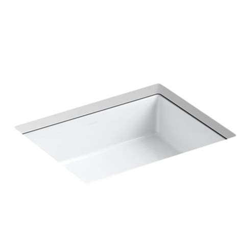kohler verticyl rectangular undermount sink kohler k 2882 0 verticyl rectangle undercounter lavatory
