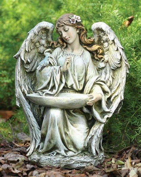 outdoor angel statues kneeling garden statue birdfeeder home decor outdoor indoor ebay