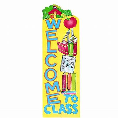 Welcome Banner Class Vertical Classroom Banners Decorations