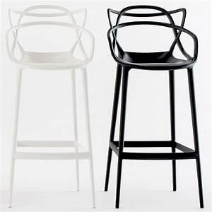 Barhocker Sitzhöhe 63 Cm : kartell masters stool barhocker schwarz sitzh he 75 cm philippe starck ~ Whattoseeinmadrid.com Haus und Dekorationen