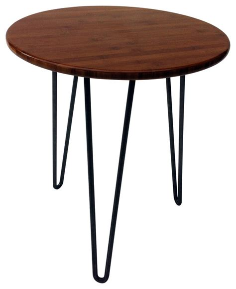mid century accent table mid century modern round side table crowdbuild for
