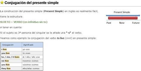 El Presente Simple En Inglés (inglessencillocom)  Didactalia Material Educativo