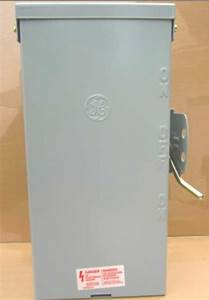 Transfer Switch Ge 200 Amps 120  240v   Manual   Portable