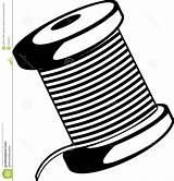 Spool Thread Vector Getdrawings Wire sketch template