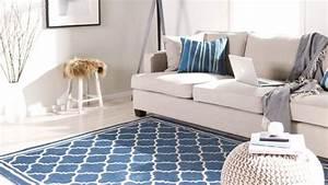 Tapis Salon Bleu Canard : tapis bleu ventes priv es westwing ~ Melissatoandfro.com Idées de Décoration