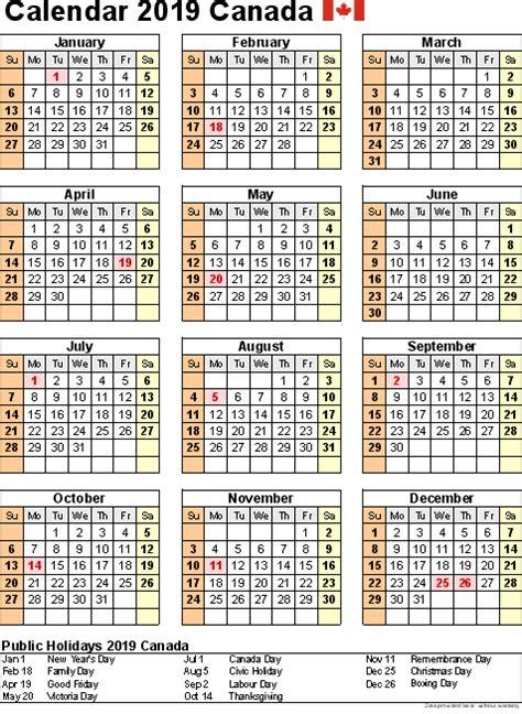 canada holidays calendar portrait canadacalendar
