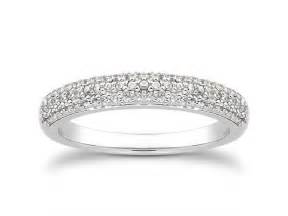 gold micro pave engagement ring row micro pave wedding ring band in 14k white gold richard cannon jewelry