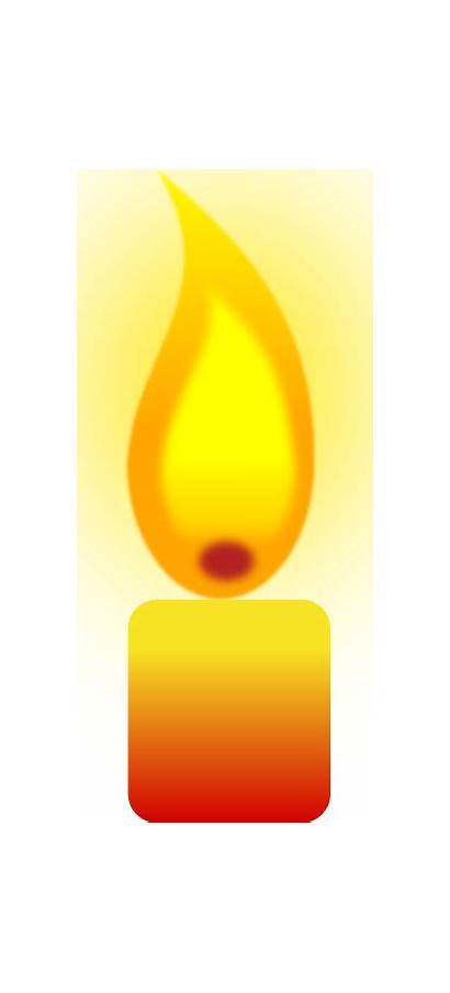 Candle Clip Burning Clipart Candles Yellow Vector