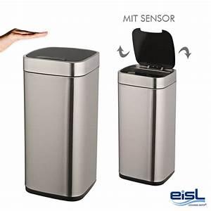 Mülleimer Mit Sensor : eisl m lleimer aus edelstahl mit 26 litern sensor f r 21 90 mit versand ~ Whattoseeinmadrid.com Haus und Dekorationen