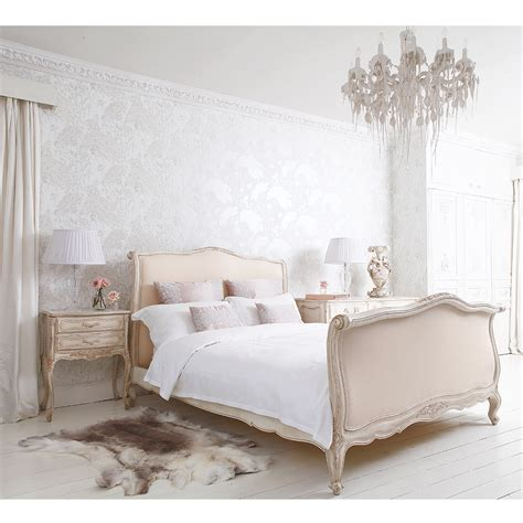 french bed rafinament elegance  romance   bedroom