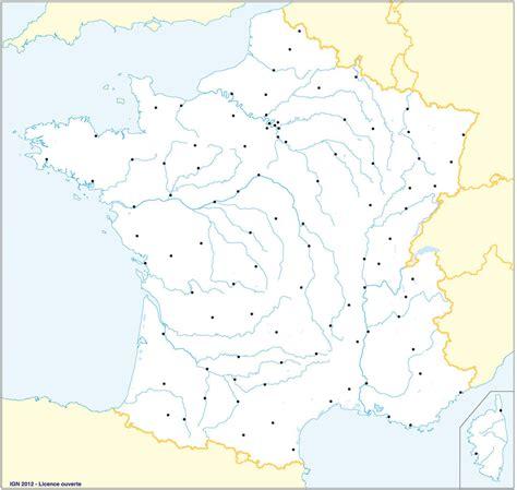 Carte Des Fleuves De Et Villes by Carte Departement Fleuve