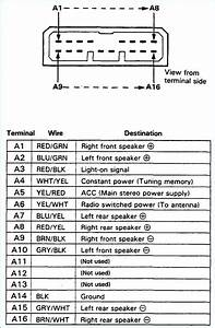 Integra Radio Wiring Harness Diagram Color Code