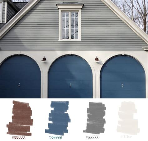 cool tones for fall home exteriors palette blue brown
