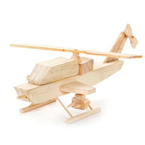 wood model kit helicopter