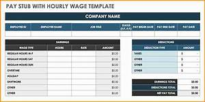 6 free pay stub template excel download simple salary slip for Free check stubs template software