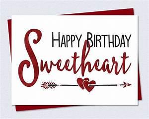 Printable Birthday Card - Happy Birthday Sweetheart ...