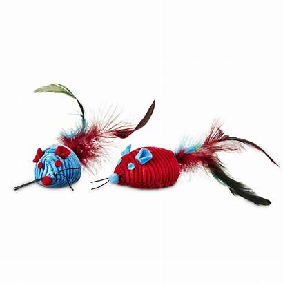 Cat Toys Mice Catnip Leaps Bounds Feather