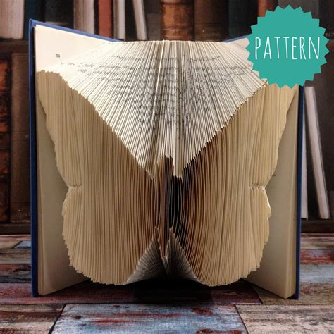 Folded Book Art Butterfly Pattern & Tutorial Gift Home