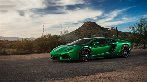 lamborghini aventador green  hd cars  wallpapers