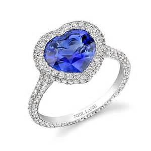 shaped engagement rings neil platinum engagement ring with a shaped sapphire and halo engagement