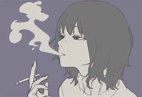Anime, Smoke, And Girl Image