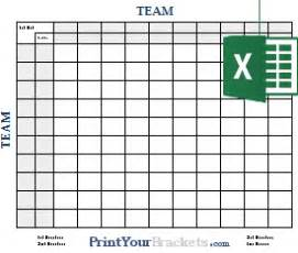 excel spreadsheet football square grids