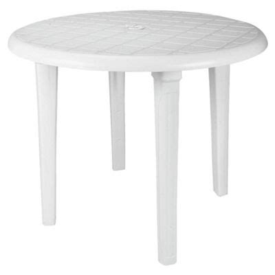 buy plastic table white 90cm from our all garden