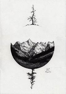 Fantastic Geometric Mountain Tattoo Sketch - Golfian.com