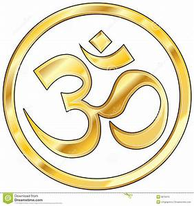 Hindu Om Vector In Gold Stock Photo - Image: 8678470