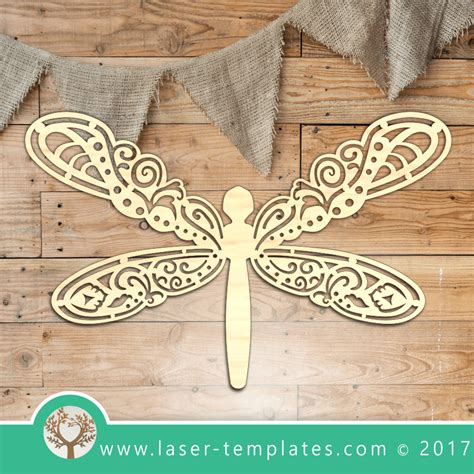 laser cut dragonfly template  laser ready vector