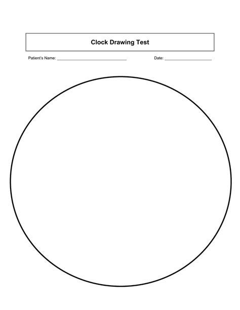 clock drawing test clock drawing test of iowa health care