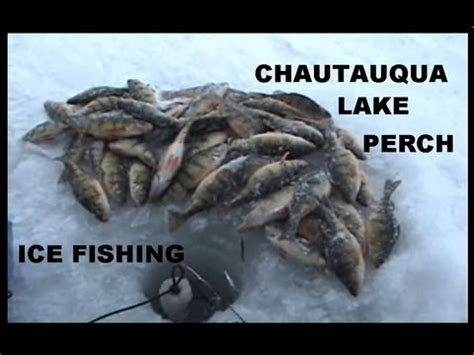 ICE FISHING FOR PERCH / CHAUTAUQUA LAKE - YouTube