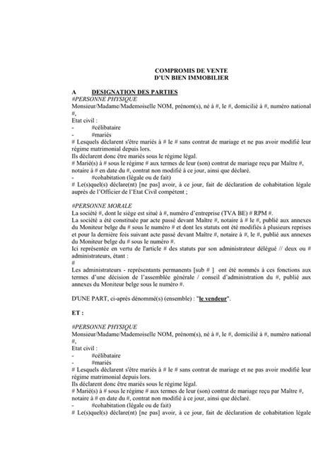 compromis de vente t 233 l 233 chargement gratuit documents pdf word et excel
