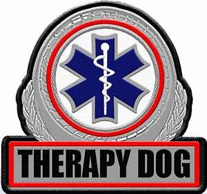 Therapy Dog Vest Patch | Large Patch for Therapy Dog Vest