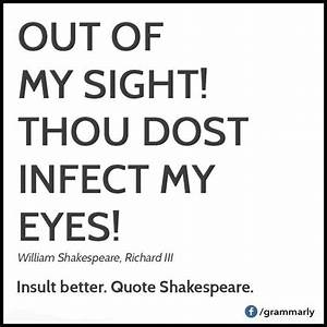 Shakespeare ins... Shakespeare Comic Quotes