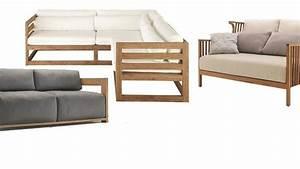 Canapé Jardin Bois : meuble jardin 5 canap s en bois pour l 39 ext rieur c t maison ~ Teatrodelosmanantiales.com Idées de Décoration