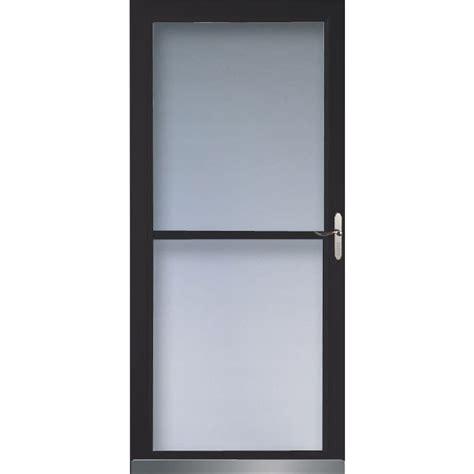 screen doors lowes shop larson 32 in w black retractable screen door at