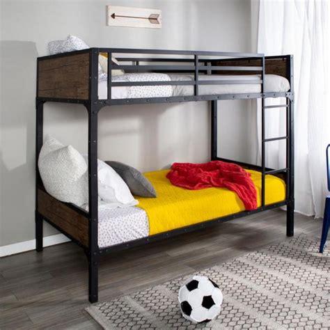 walker edison furniture company rustic twin  twin wood