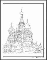 Coloring Cathedral Basil Adult Printable Colorwithfuzzy Template Geometric sketch template