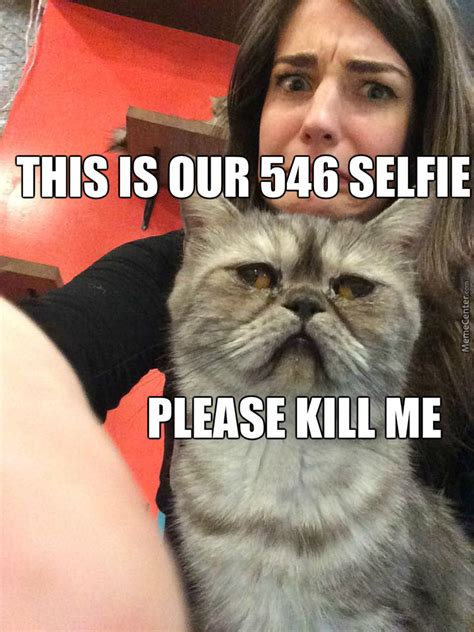 Bueno Meme - selfies with cats are no bueno by chandley meme center
