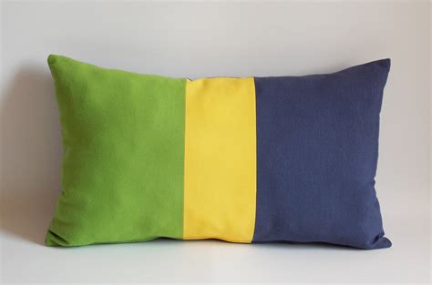 Decorative Lumbar Pillows Green by Decorative Lumbar Pillow Green Yellow Navy Throw Pillow Pillow