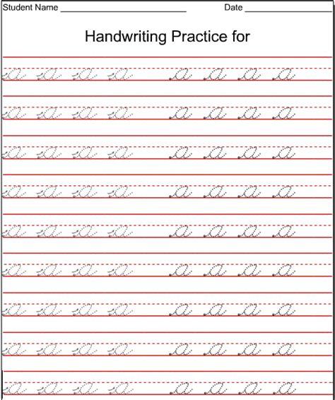 Kindergarten Worksheets Lowercase Cursive  Letter A