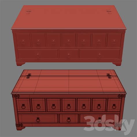 A steampunk inspired apothecary chest made out of recycled pallets. 3d models: Table - Friends Apothecary Coffee Table