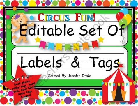Gearing Up For 'back To School' And All The New Name Tags